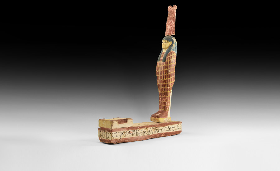 Egyptian Large Polychrome Ptah-Sokar-Osiris Figure