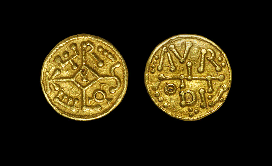 Pseudo Carolingian Gold Mancus -Sold for: £70,180