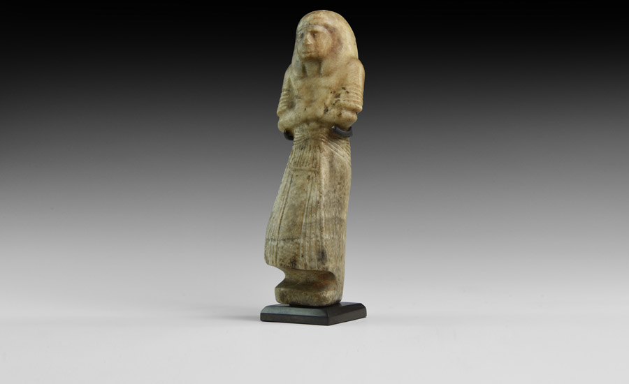 Egyptian Alabaster Shabti of an Overseer