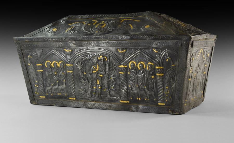 Byzantine Gilt Silver St. Apollinaris Reliquary Casket