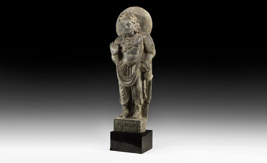 Gandharan Standing Bodhisattva Statue