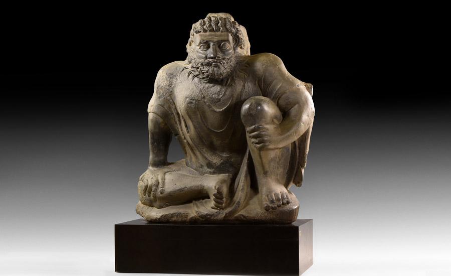 Gandharan Crouching Atlas Statue