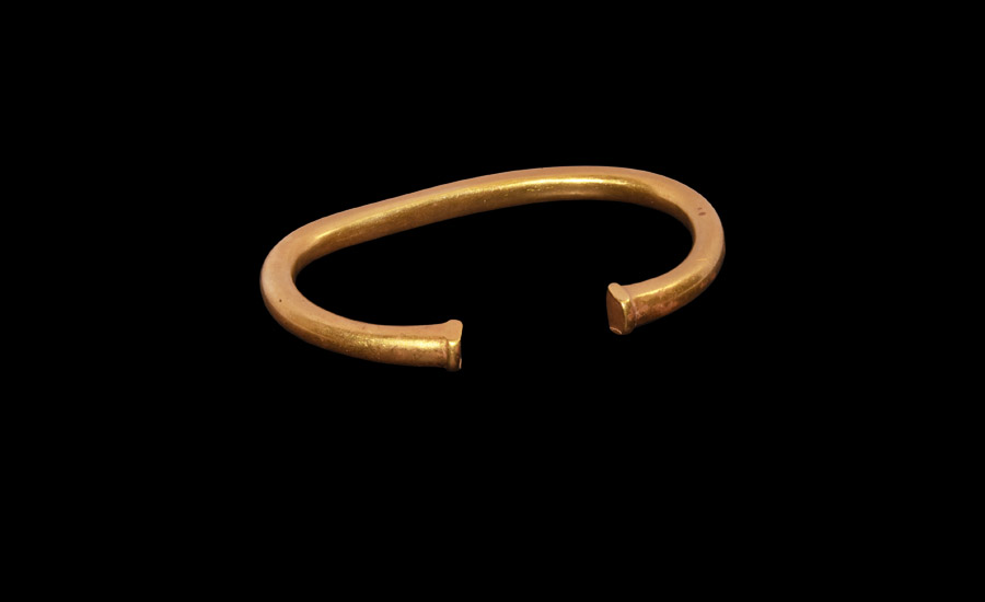 Bronze Age Heavy Gold Bracelet