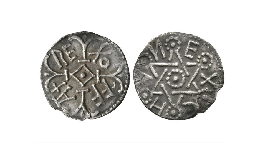 Offa - East Anglia / Ecghun - Star of David Penny