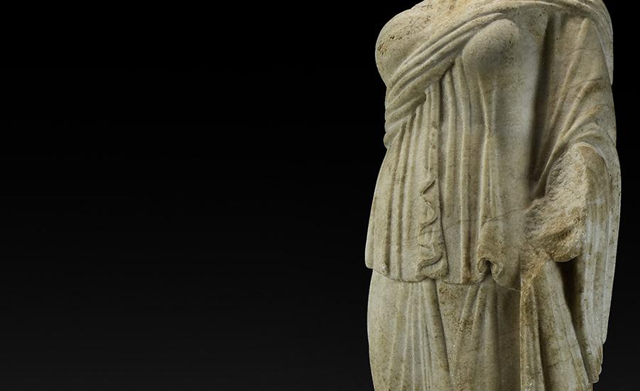 Roman Marble Torso of a Goddess