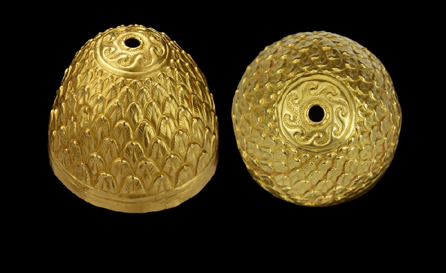 Scythian Gold Decorated Ritual Vessel