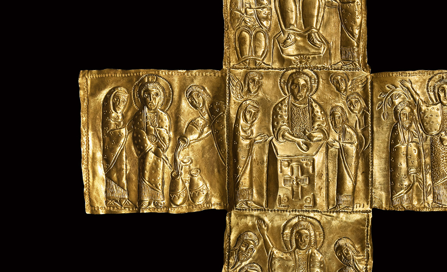Byzantine Gold 'Coptic' Cross with Miracles
