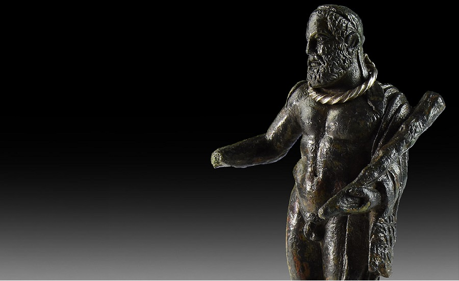 Roman Hercules with Silver Torc Statuette