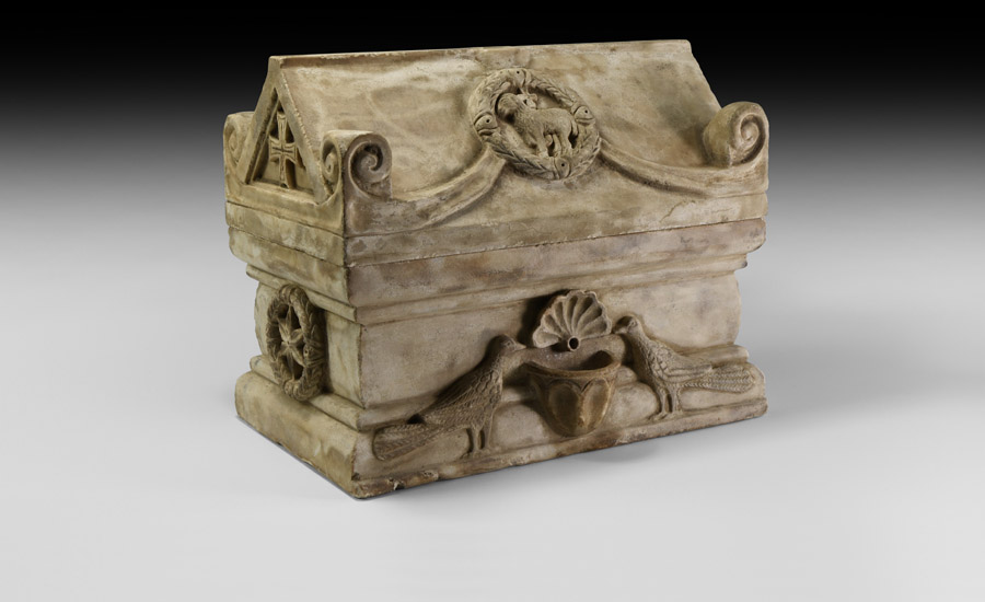 Byzantine Marble Reliquary Casket - Sold for: £27,500