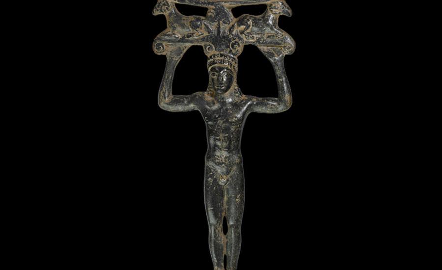 Greek Figural Mirror Handle with Rams £10,000-£14,000
