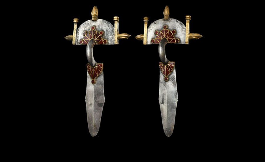 Gothic Gold Clad Silver Brooch Pair with Garnets £30,000-£40,000
