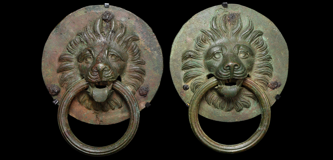 Large Roman Door Handle Pair with Lion Heads £8,000-£10,000