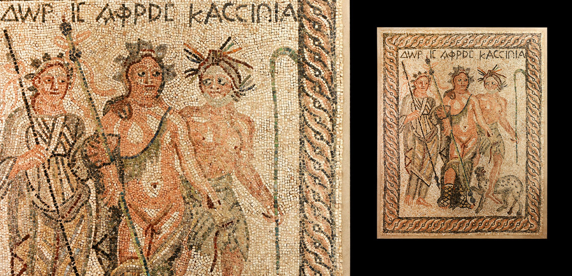 Roman Mosaic with Aphrodite and Nymph Doris £10,000 - £14,000