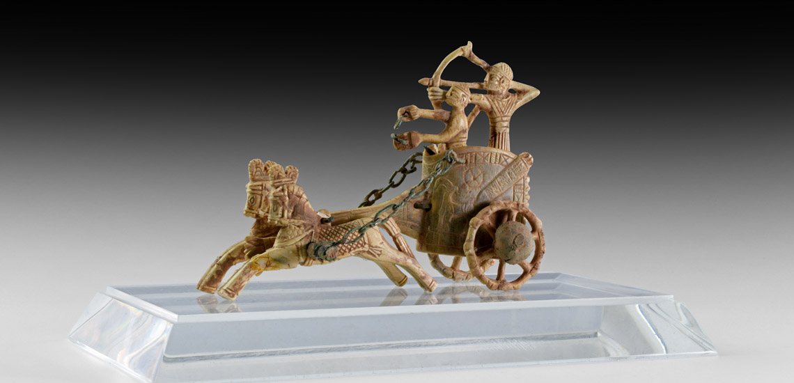 Ivory War Chariot and Rider with Drawn Bow £18,000 - £24,000