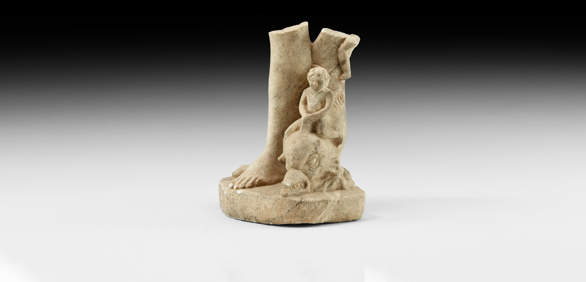 Venus Statue Leg with Cupid Riding a Dolphin £8,000 - £10,000