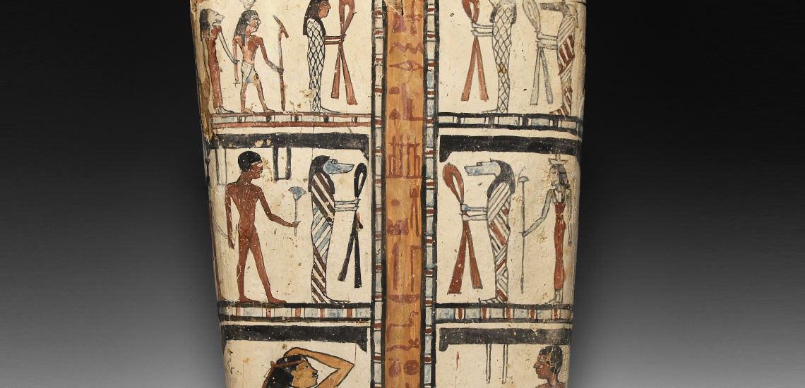 Egyptian Painted Cartonnage with Figural Panels £4,000 - 6,000