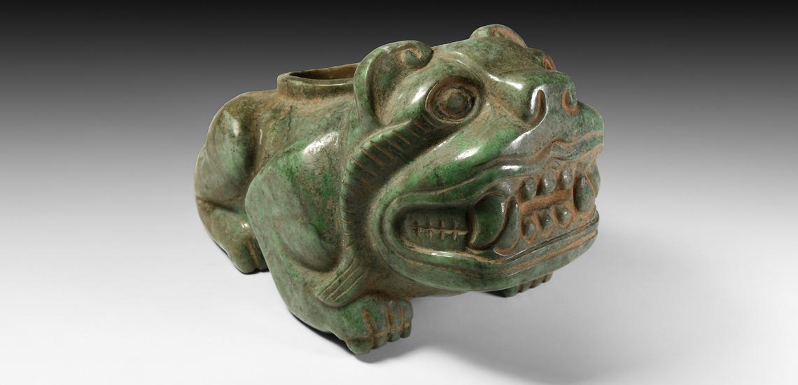 Mesoamerican Jadeite Jaguar £15,000-£20,000