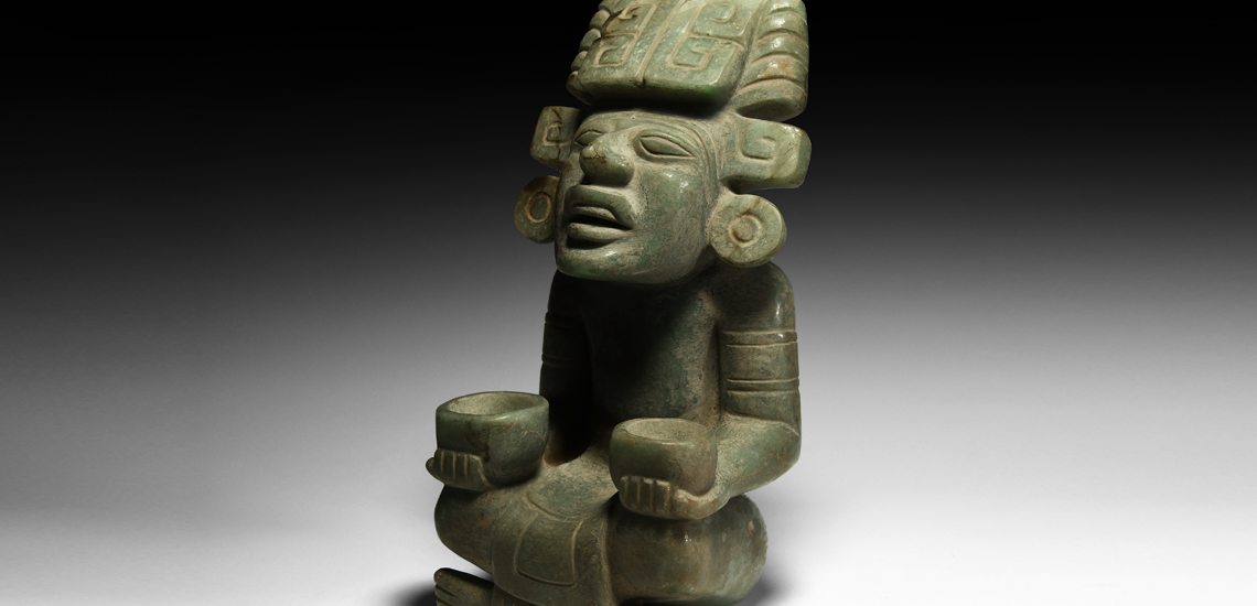 Aztec Jadeite Seated Figure £12,000-£17,000