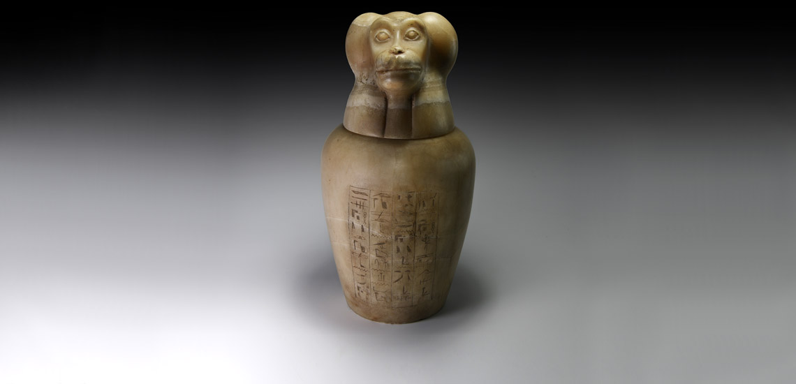 Large Egyptian Canopic Jar of Baboon-Headed Hapy £15,000-£20,000