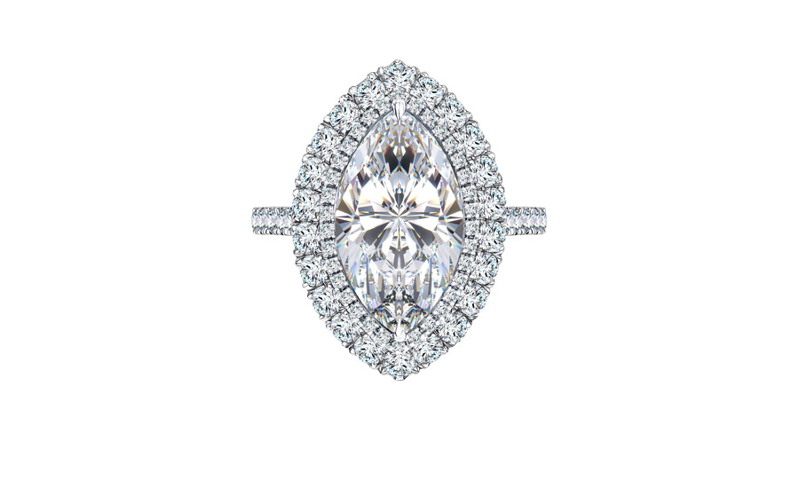 GIA Certified 6.32 Carat White Marquise Shape Platinum Diamond Engagement Ring