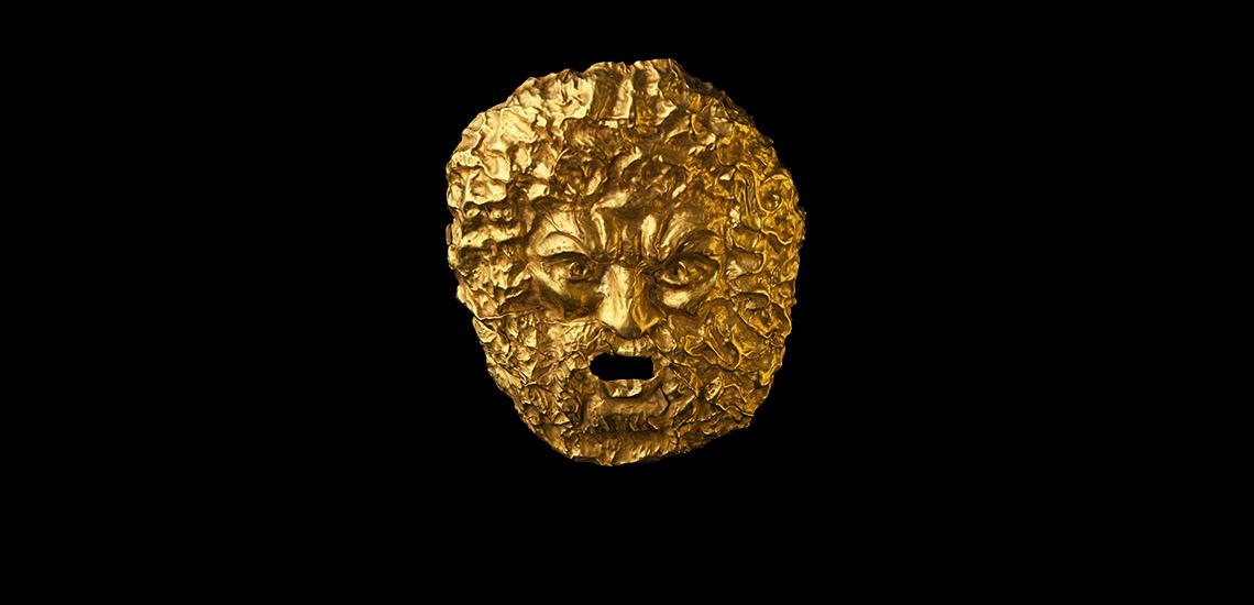 Roman Gold Satyr Mask £30,000 - £40,000