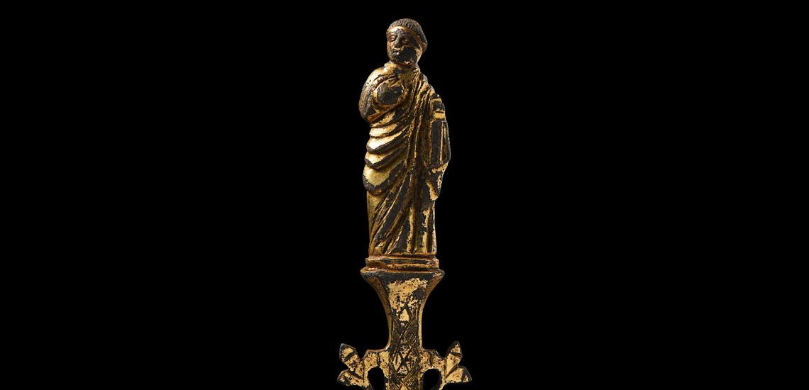 Medieval Gilt Reliquary Figure