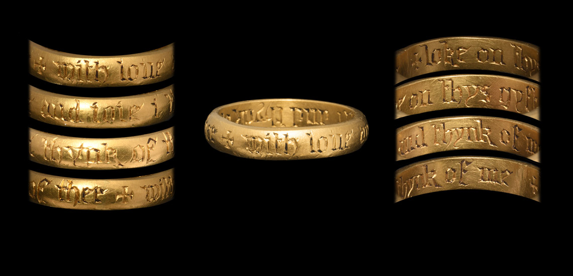 Medieval Gold Inscribed Posy Ring
