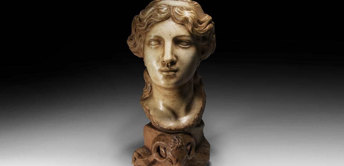 Circle of Simone Bianco Marble Head