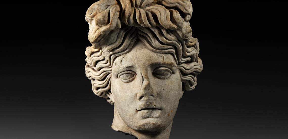 Monumental Roman Marble Head
