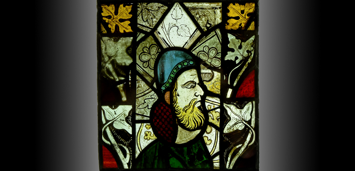 Medieval English Portrait in Stained Glass