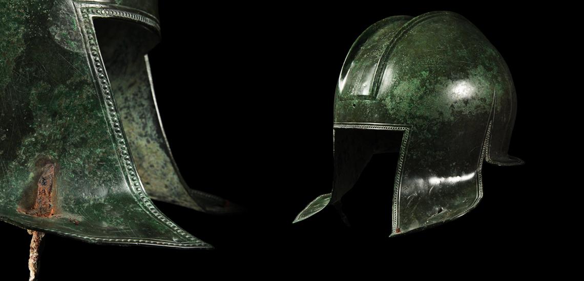 Battle Speared Illyrian Helmet