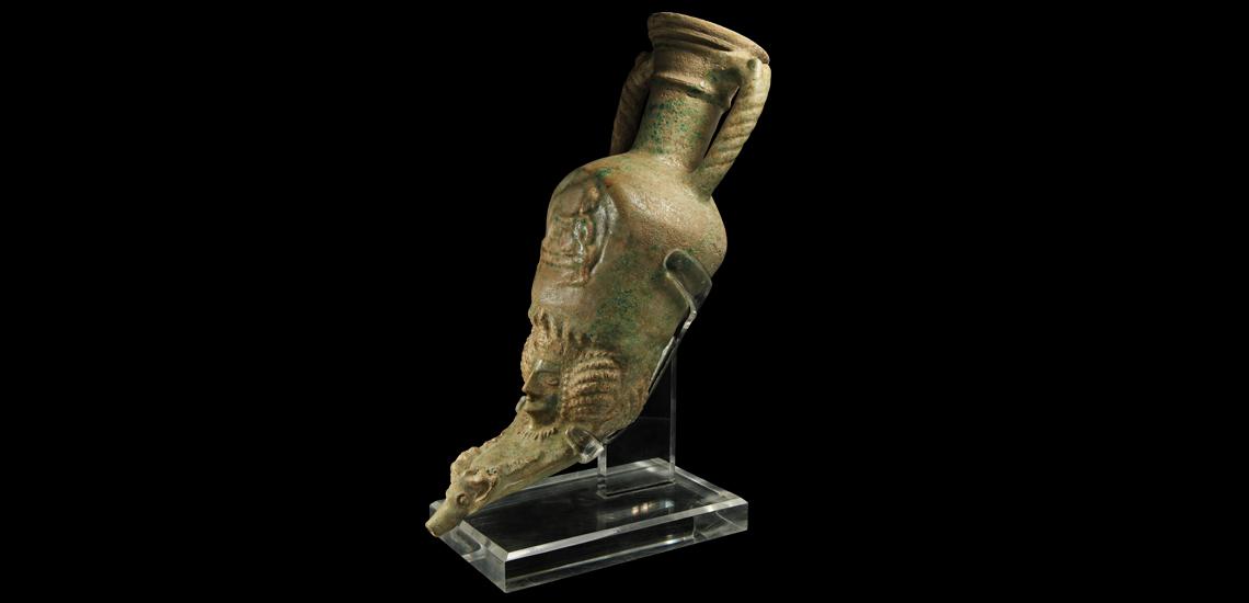 Parthian Amphora-Shaped Figural Rhyton