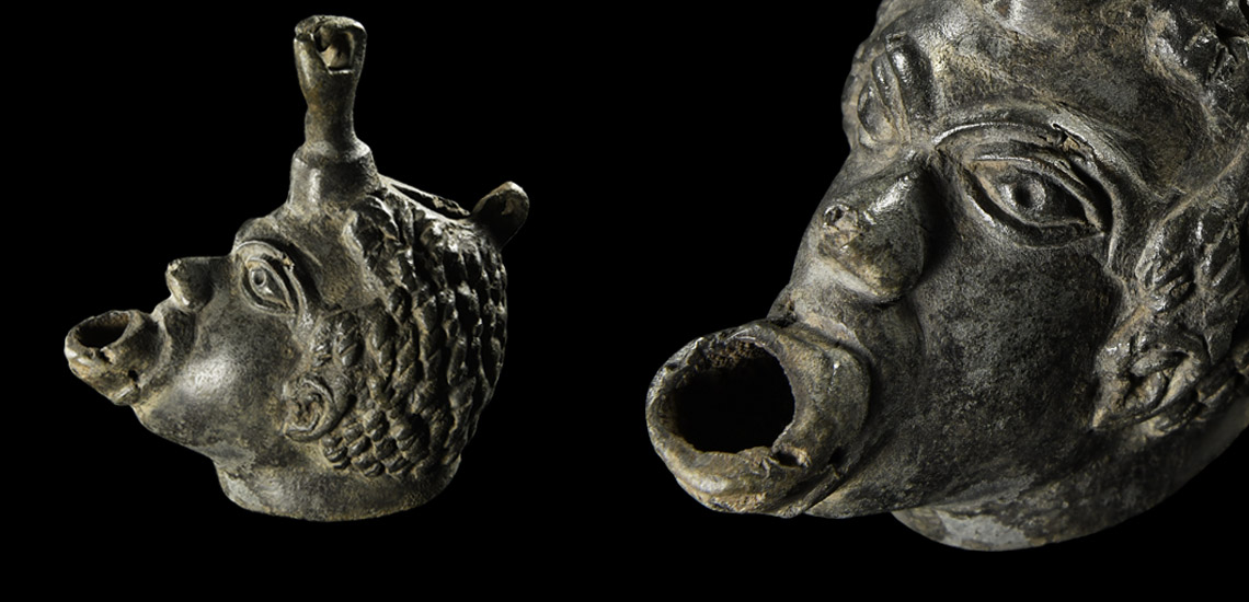 Lamp with African Head and Fist £2,000 - £3,000