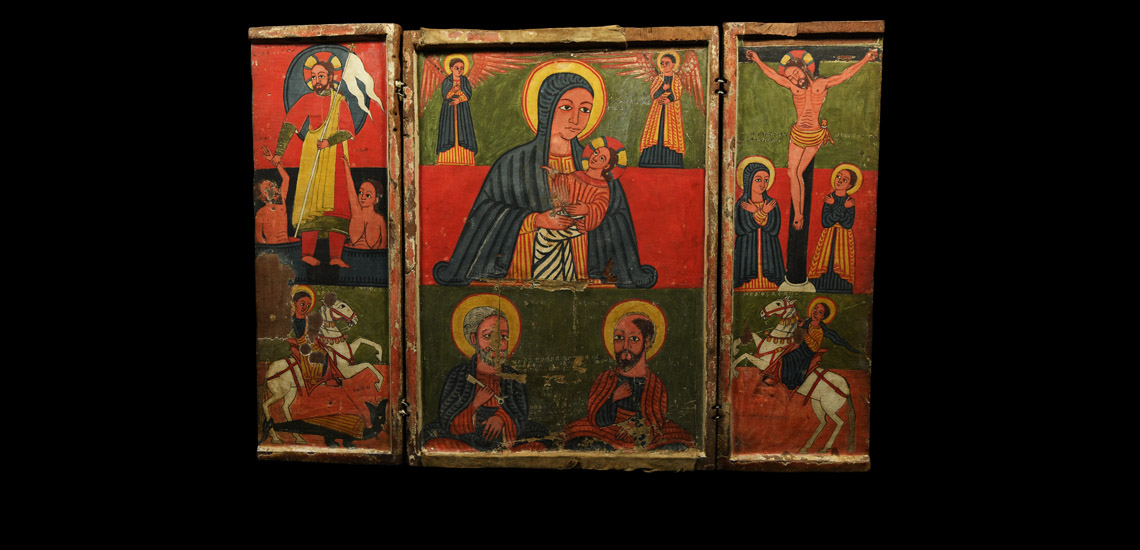 Ethiopian Triptych Icon with Scenes from the Life of Christ £6,000 - £8,000