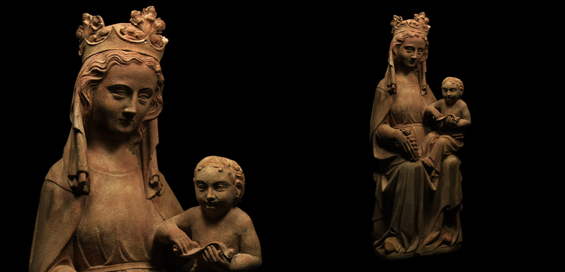 Medieval Limestone Virgin and Child Statue £8,000 - £10,000