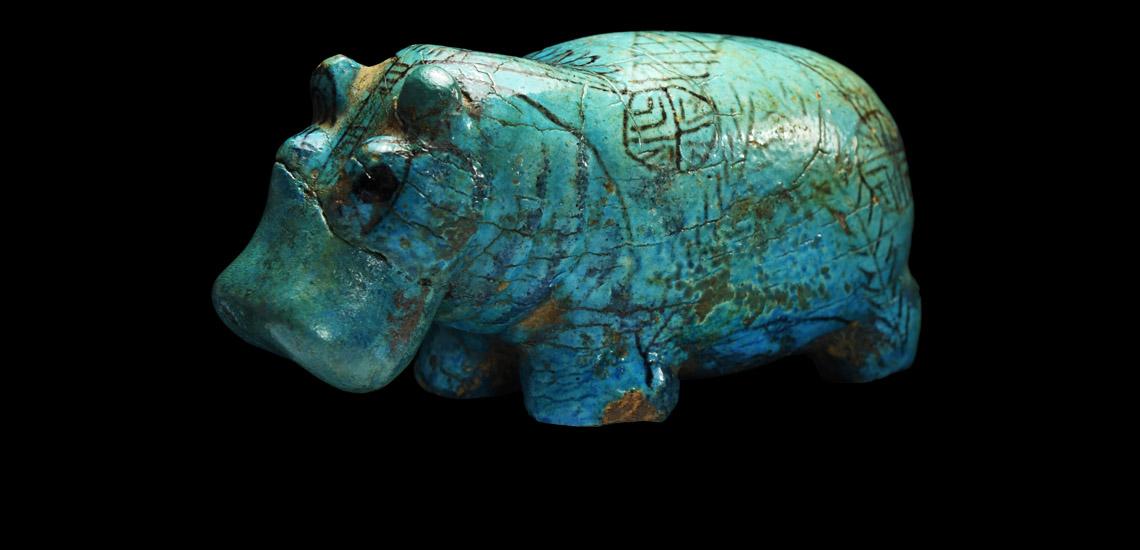 Egyptian Turquoise-Glazed Hippopotamus £40,000 - £60,000