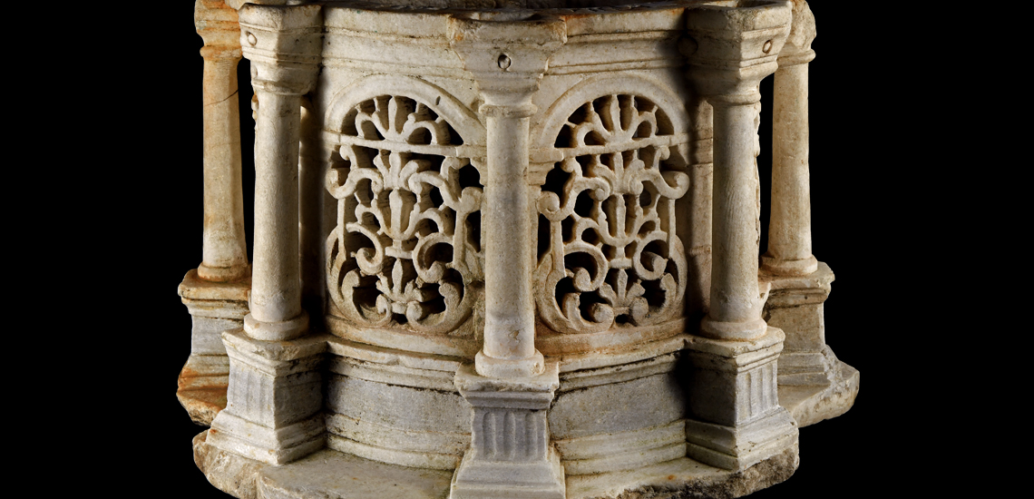 Byzantine Marble Reliquary with Pillars £8,000 - £10,000