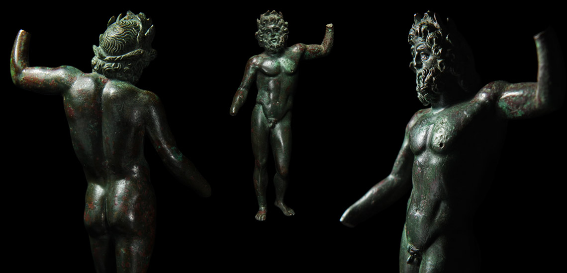 Roman Jupiter Statuette with Silver Eyes £15,000 - £20,000