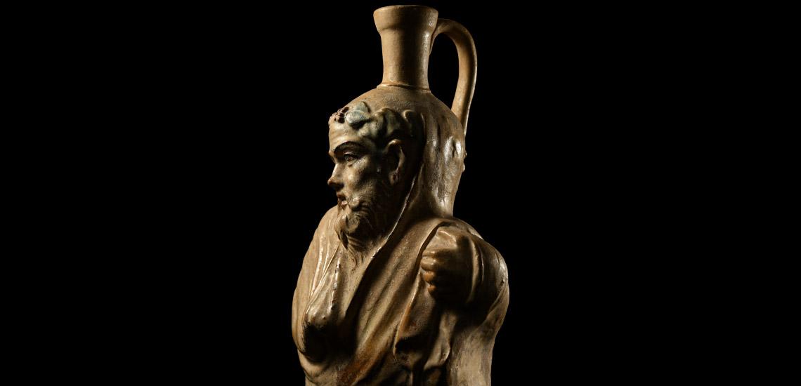 Roman Imperial Glazed Terracotta Vase Figuring the Bust of Silenus £40,000 - £60,000
