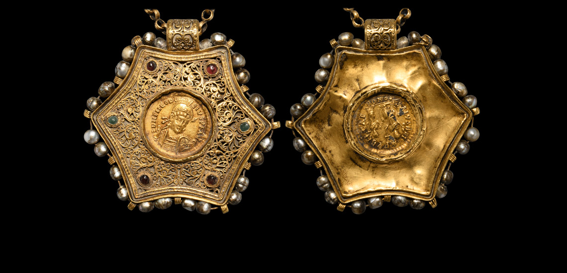 Byzantine Gold Coin Pendant Necklace £30,000 - £40,000