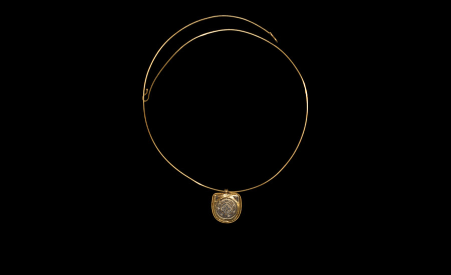 Byzantine Gold Necklace with Pendant