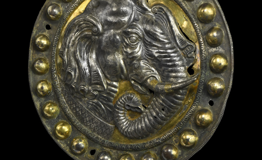 Sogdian Gilt Silver Plaque with Elephant £50,000 - 70,000