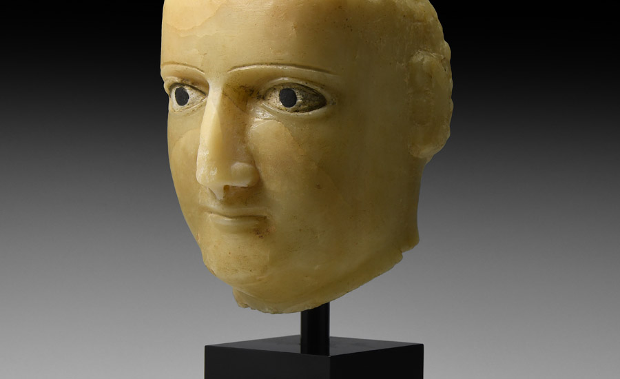 Western Asiatic Alabaster Head £12,000 - 17,000