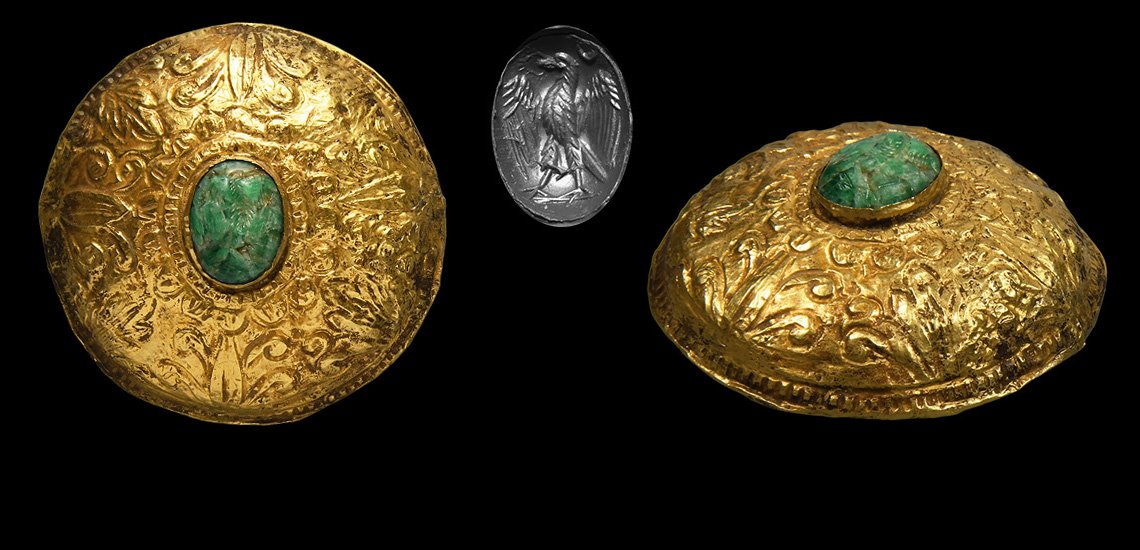 Large Western Asiatic Gold Boss with Intaglio: Starting at £2,700