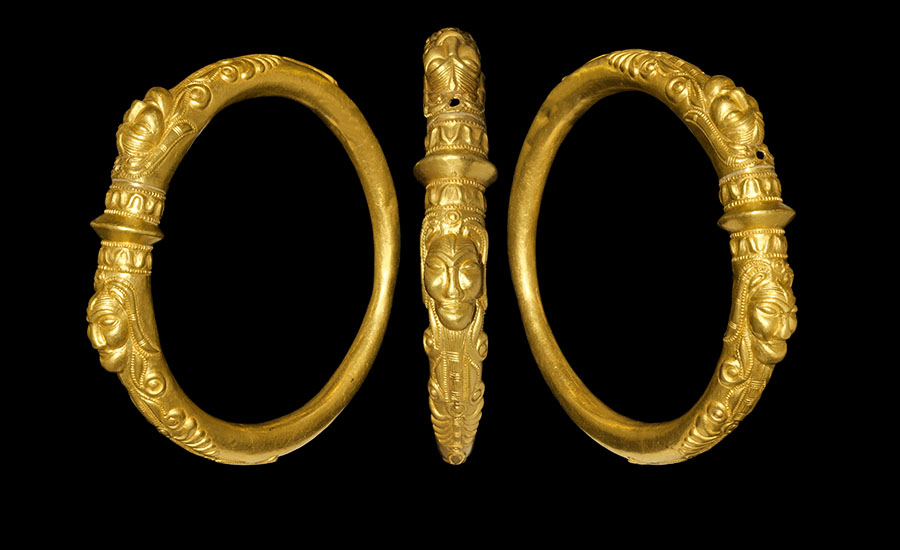 Celtic Gold Heavily Ornamented Armring - Sold for: £111,600