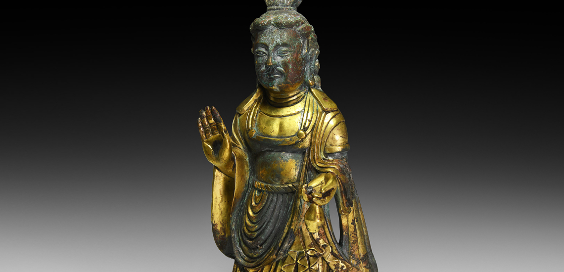 Rare and Important Chinese Royal Jin Bodhisattva Maitreya £30,000-£40,000