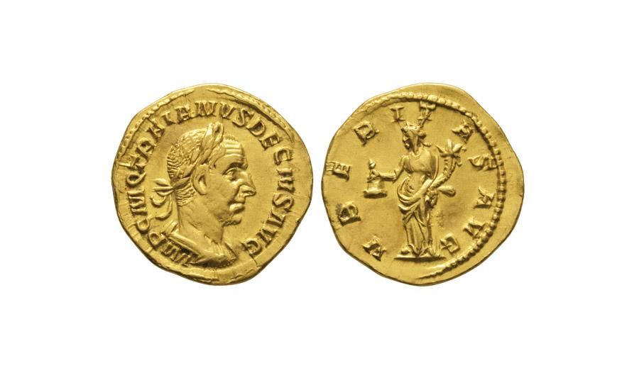 Lot 3370: Trajan Decius - Uberitas Aureus £4,000 - £6,000