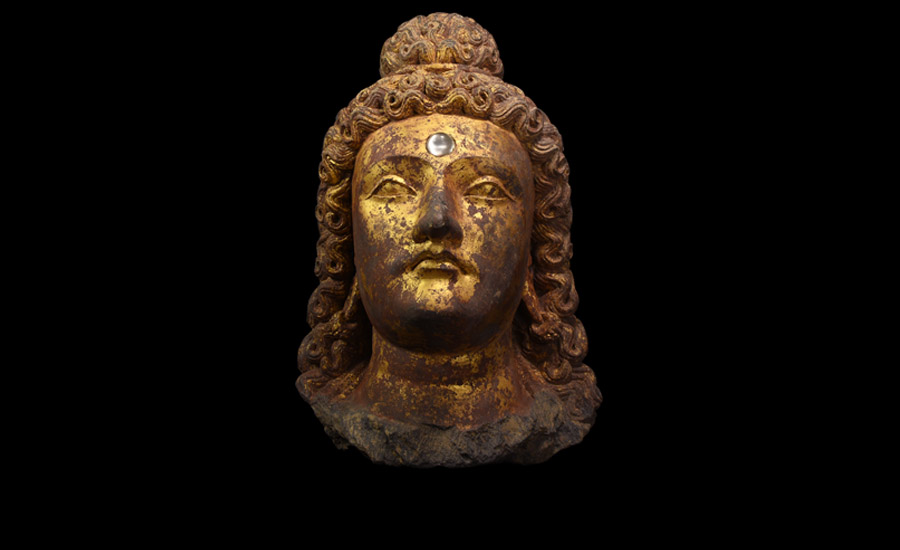 Monumental Gandharan Gilded Head of Prince Siddartha £40,000-£60,000