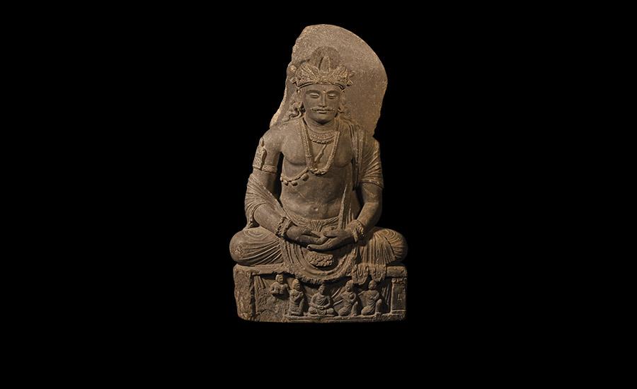Gandharan Large Meditating Maitreya Statue - Sold for: £30,000