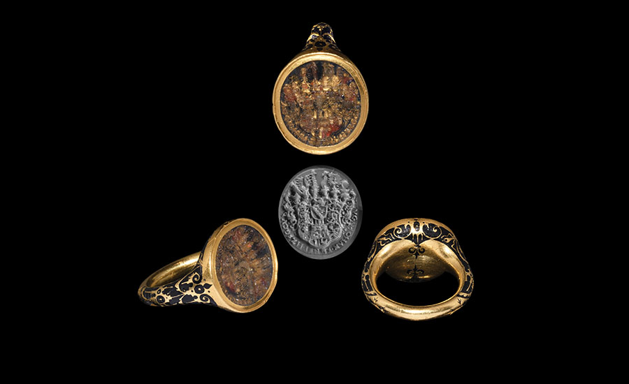 Armorial Ring for Johann Ernst I, Related to Anne of Cleves, Wife of King Henry VIII of England - Sold for: £68,200